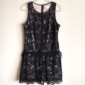 LAUNDRY BY SHELLI SEGAL Drop-waist Lace Dress